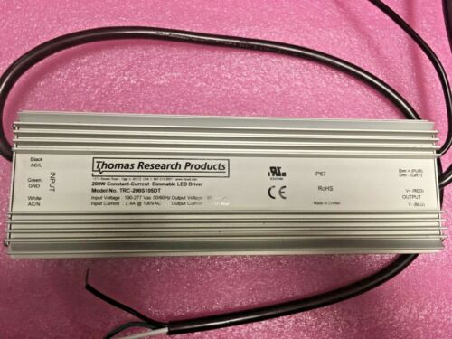 Lot of 2 Thomas Research Products TRC-200S105DT LED DRVR CC AC//DC 114-190V 1.05A