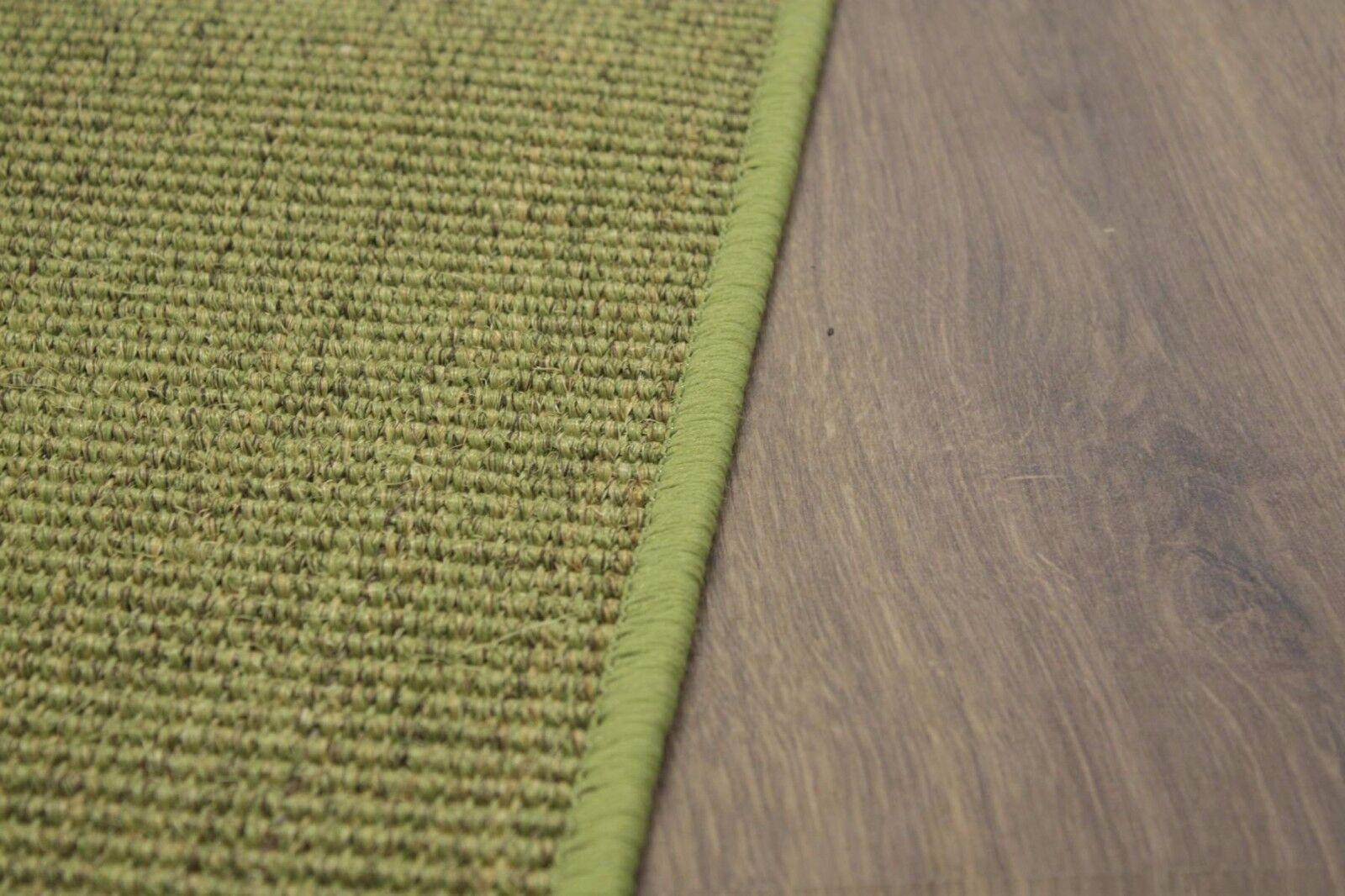 sisal Tapis Surfilé vert SISAL moucheté 150x200cm 100% SISAL vert boucle e6598e