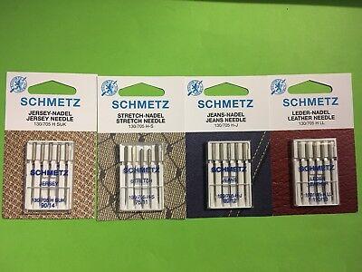 Schmetz Flachkolbennadeln Stärke 80 Nähmaschinennadeln für alle Stoffarten