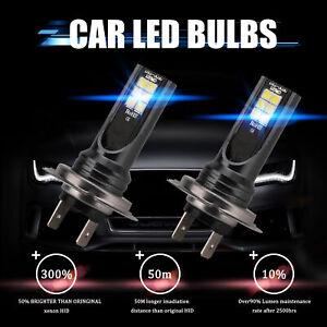 2x H7 LED Voiture Phare CSP 110W Ampoule Feux Avant 30000LM Xenon 6000K Blanc HS