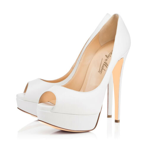 Onlymaker Womens Peep Toe Platform High Heels Slip On Pumps Party Shoes US5-15