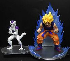 lot OF 2  DragonBall Z DBZ FIGURE FRIEZA SS GOKU FIGHTING PVC Statue figure 5""