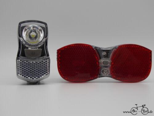 Falkx Bicycle beleuchtungsset FS1 Front Light//Rear Light Set LED 40Lm German Road