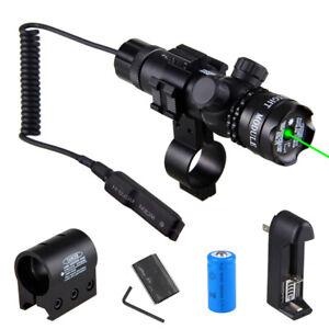 Jagd Taktisch Grün// Rot Dot Laser Sight Schienenmontage Montieren Fernschalter