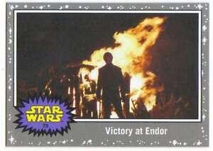 2015 Star Wars Viaje A La Fuerza despierta Silver # 79 La Victoria En Endor Topps