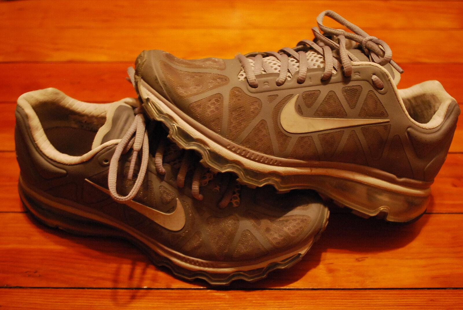 Women's Nike Air Max 2011 Stealth Gray Pure Platinum Running Sneaker (7.5)