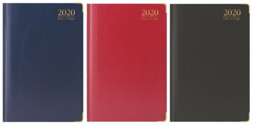 2020 diary A6//A5//A4 Week to View //Day a Page Gilded  Hardback Metal Corner Diary