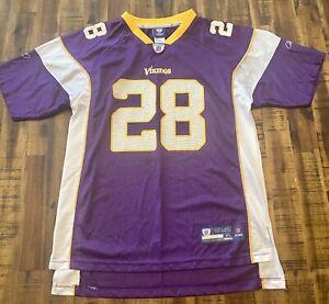Reebok-ON-FIELD-Adrian-Peterson-28-Vikings-NFL-Jersey-Boys-XL