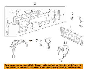 s l300 toyota oem 95 04 tacoma rear fender panel bed wheelhouse liner clip