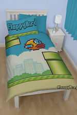 Flappy Bird Bettwäsche Pipes 135x200 Game Bettgarnitur Kids & Erwachsene neu