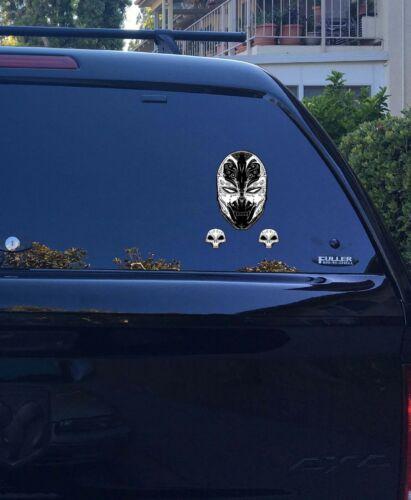 30-196 Spawn  Sugar Skull Muertos Head Shoulders Cape Logo Vinyl Window decal