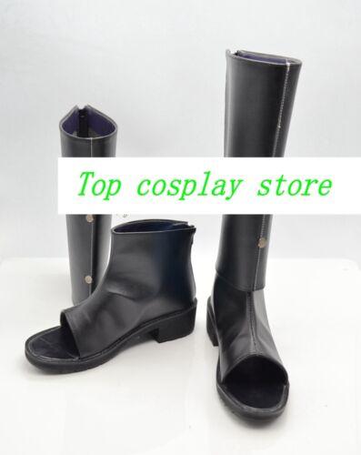 Naruto Cosplay Sakura Haruno Black Shinobi Boots shoes Ninja Version D #NAR005