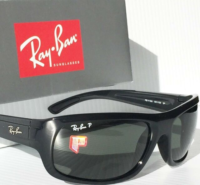 6b5a01bfb6 NEW  Ray Ban RB 4166 POLARIZED Grey Lens in BLACK 63mm frame Sunglass RB4166