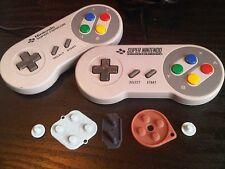 New SNES Super Nintendo / Famicom Replacement Buttons Rubber Pads Parts Repair