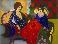 Modern Itzchak Tarkay Abstract Oil Painting Repro Living Room Canvas Wall art 38