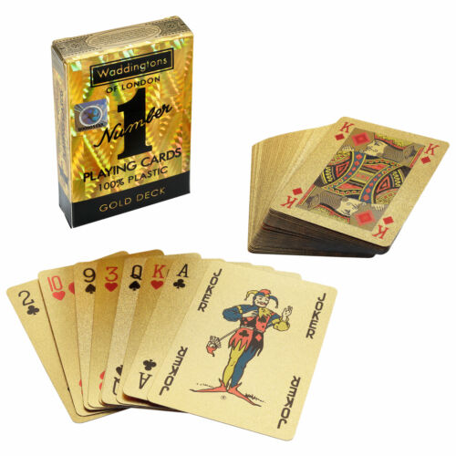 Number 1 jeu de cartes Gold Edition Waddingtons jeu de cartes POKER Jeu de cartes