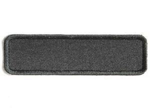 black name tag blank 3 5 x 1 sew on patch 4034 biker. Black Bedroom Furniture Sets. Home Design Ideas