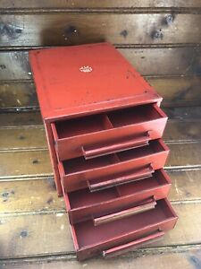 MAC Tools Storage Small Metal Parts Compartment Drawer Nuts Bolts Vintage