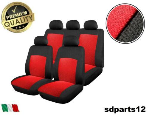 Peugeot Citroen Coprisedili  Rosso-Nero Copri Sedili Fodere Set