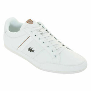 Lacoste Chaymon 319 White Brown Leather Mens Trainers