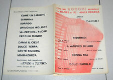Spartiti SERIE TANGHI ROCCHI Songbook Ballo liscio Orchestra Fisarmonica