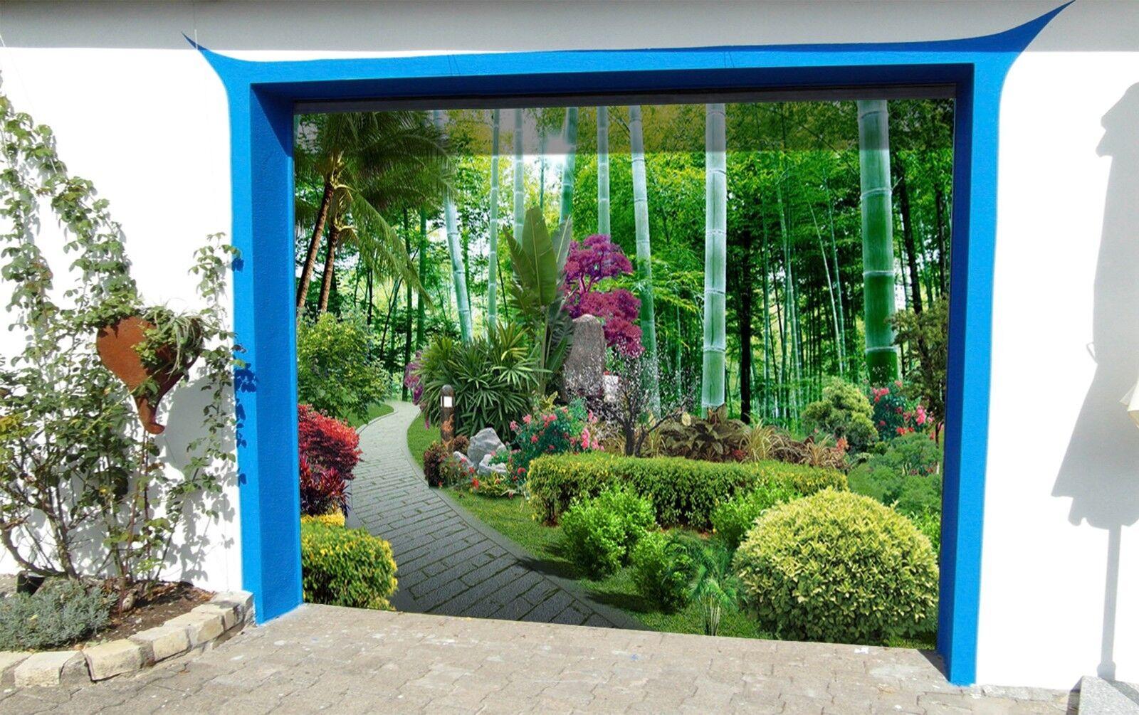 3D Bamboos Plants 45 Garage Door Murals Wall Print Wall AJ WALLPAPER UK Lemon