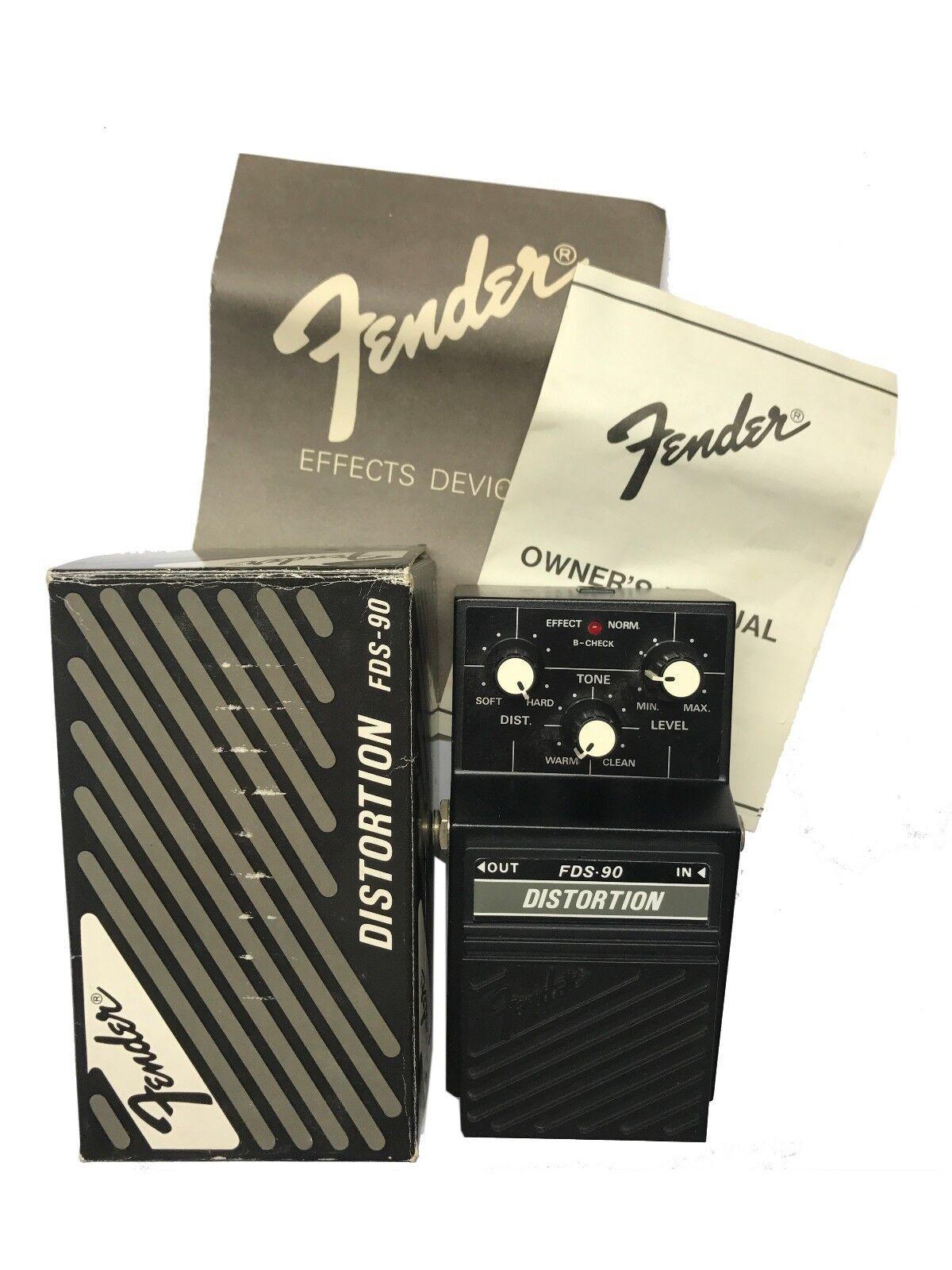 Fender FDS-90. Distortion, Made In Japan, 1980s, Original Boxing, Vintage Effect