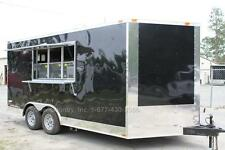 New 85 X 16 85x16 Enclosed Concession Food Vending Bbq Trailer With Equipment