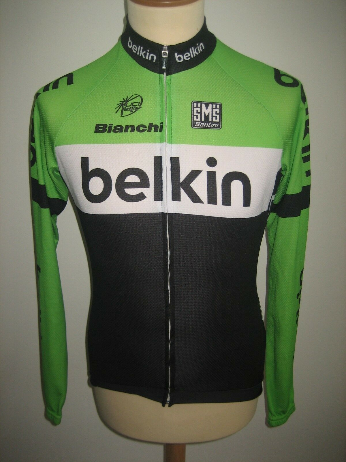 Belkin pro cycling team WORN by Lars BOOM jersey shirt cycling maillot size L