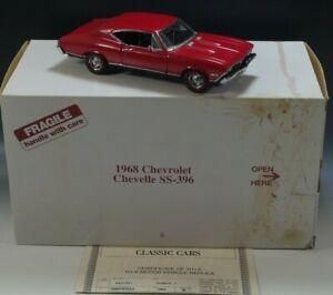 DANBURY-MINT-1968-CHEVROLET-CHEVELLE-SS-396-1-24-SCALE-DIE-CAST-NM-CONDITION