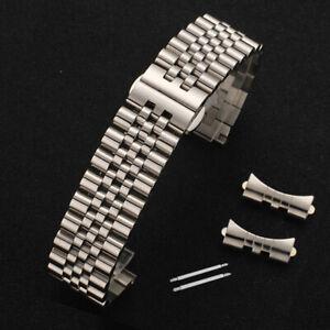 Kurven-Schraube-Edelstahl-Armband-Metall-Ersatz-Uhrenarmband-Strap-Verschluss