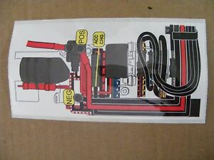 NEW OEM Johnson    Evinrude       200   225250300HP Decal    Wiring       Diagram    351815 Outboard