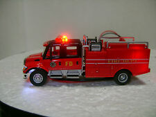 Ho scale Crew Cab Fire Engine Truck with Led lights installed