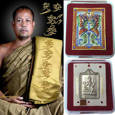 Thep Jamlang King Of Butterfly 2 Gold Takrut Kruba Krissana Thai Amulet Genuine