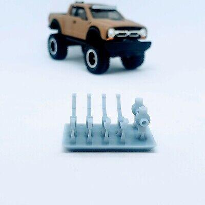 DUAL CARB WHITE TRASH  V8 1:64 scale engine 3D printed resin Hot Wheels//Matchbox