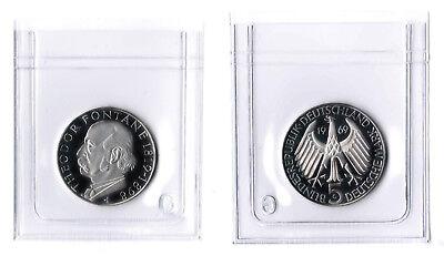 FäHig 5 Mark 1969g Theodor Fontane Gedenkmünze In Plastikhülle, Polierte Platte (pp)