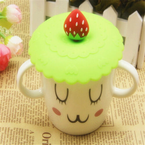 1X Silicone Cute Bowknot Anti-dust Glass Cup Cover Coffee Mug Seal Drink Lid Cap