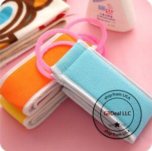2 pcs Korean Italy Exfoliating Bath Washcloth Body Scrub Shower Skin Towel Long