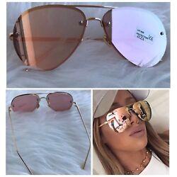 AYZA Damen Piloten Sonnenbrille Cat Eye Vintage Katzenauge Rosagold Verspiegelt
