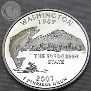 2007-S-BU-WASHINGTON-STATE-QUARTER-PROOF-CAMEO-GEM