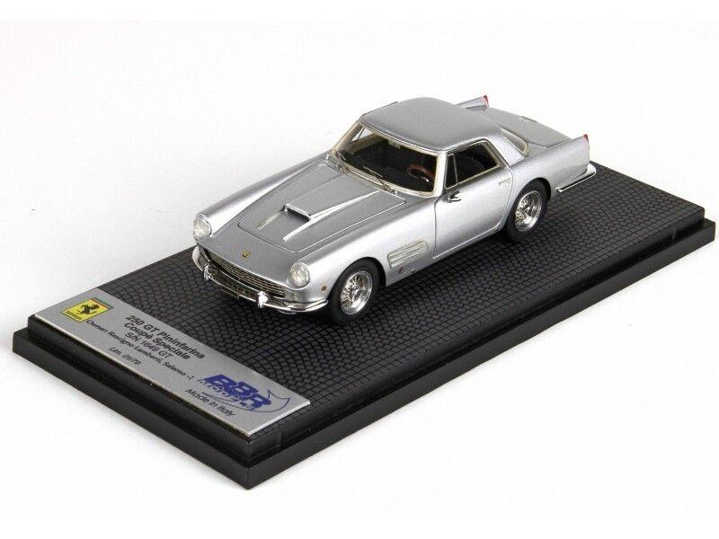 BBR Models 1/43 Ferrari 250 250 250 GT Pininfarina Grigio Metallizzato Modellino 039eb5