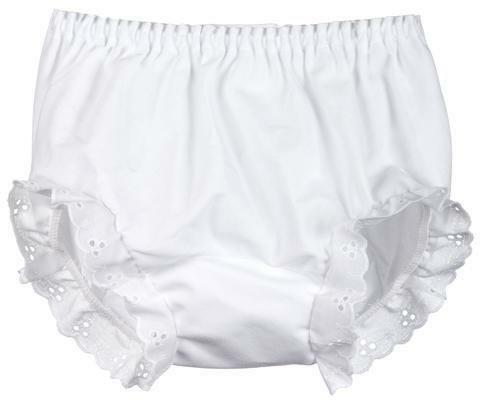 White Diaper Cover Bloomers for Embroidery or Crafts