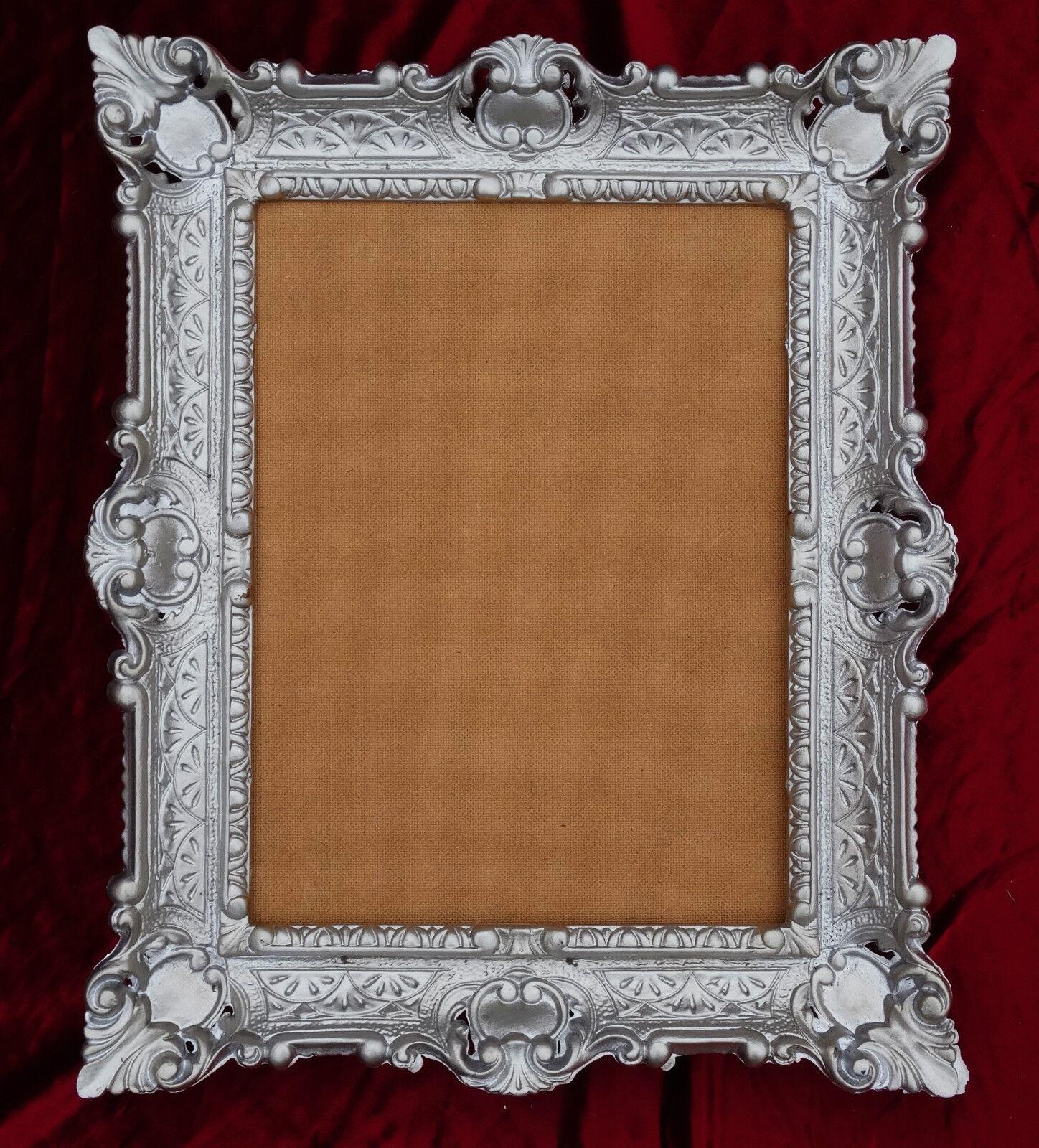 Barock Bilderrahmen in ALTSILBER 56x46 cm Fotorahmen für Bilder ...
