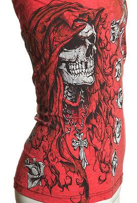 Archaic AFFLICTION Mens T-Shirt DEATH CHASE Skull Tattoo Biker MMA UFC M-4XL $40