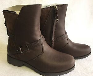 Teva 7 Delavina Us Leather Womens Mosaic Brown Low Size Dark Boots 5 44CwPrq