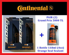 PAIR 2 Continental Grand Prix GP 5000 TL 700 25 28 TUBELESS Tires ORANGE SEALANT