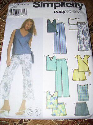 SIMPLICITY #7262 LADIES ~EASY TO SEW~ SUMMER or WINTER DRESS PATTERN  6-22 FF