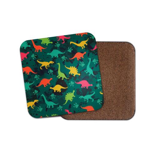 Génial Dinosaures Coaster-Dinosaure Jurassique Vert Camouflage Enfants Cool Cadeau #13184