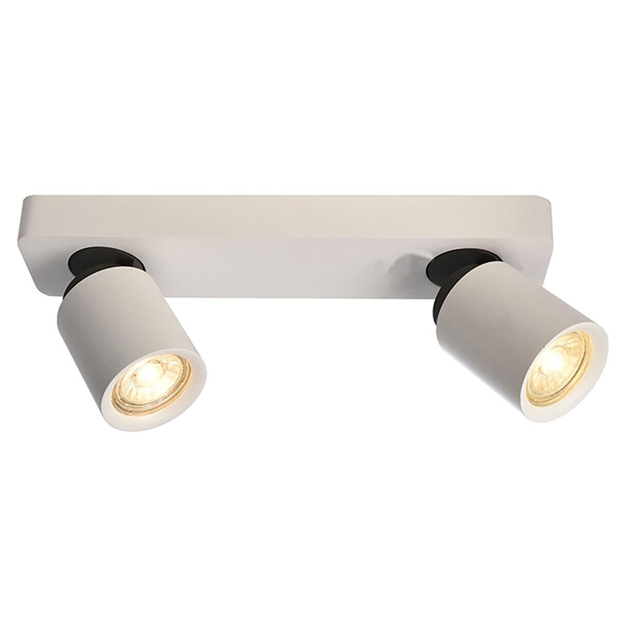 Strahler Leuchter Decke 2 Lichter LED 10w GU10 Schaufenster Kader Büro Haus 230v