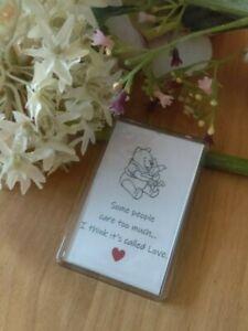 Handmade Winnie the Pooh Fridge Magnet. With 'Winnie' Quote Friendship/love Gift